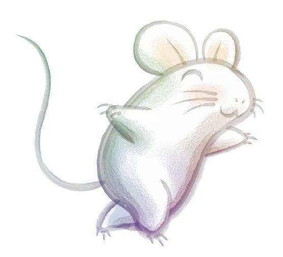 年賀状向け無料イラスト素材12v02 翔るネズミ