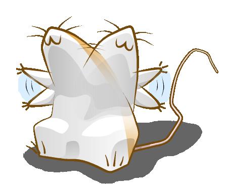 年賀状向け無料イラスト素材12v07 じたばたするネズミ