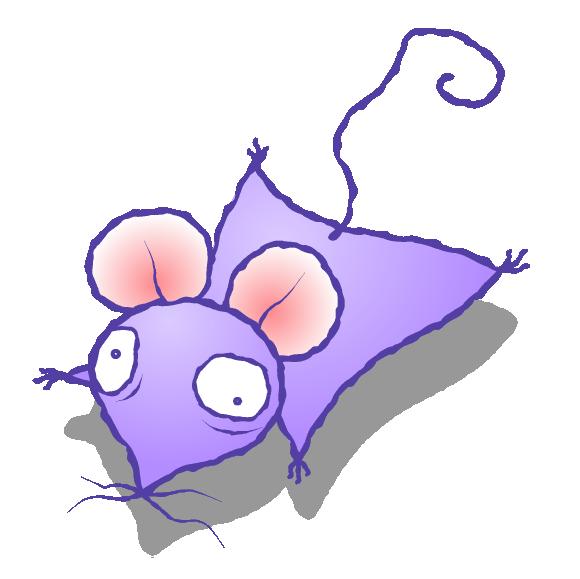 年賀状 無料イラスト素材12v14 よれよれ鼠