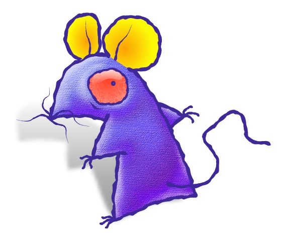 年賀状 無料イラスト素材12v15 振り向くよれよれ鼠